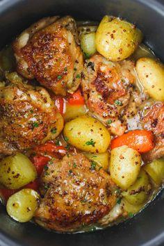 Chicken Breast Instant Pot Recipes, Garlic Chicken Recipes, Instant Pot Dinner Recipes, Honey Garlic Chicken, Chicken Thigh Recipes, Baked Chicken, Boneless Chicken, Healthy Chicken, Frozen Chicken Recipes