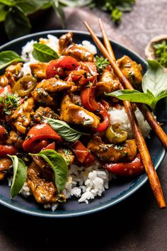 Healthy Dinner Recipes, Whole Food Recipes, Cooking Recipes, Healthy Options, Basil Chicken, Stir Fry Dishes, Chicken Stir Fry, Asian Recipes, Ethnic Recipes