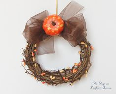 Mini Fall Wreath 18 Doll Wreath American by TheShopOnLeightonAve, $5.50