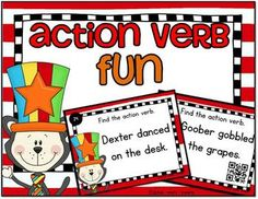 Would you like your students to have extra practice in action verbs?  I love how task cards are just the right thing for independent practice in centers, small groups or playing scoot. newyearpegsStudents will read a short sentence and choose the word that is an adjective.