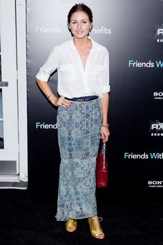 Olivia Palermo minus the gold shoes :)
