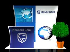 Standard Bank 3x2 Curved Wall and Desk Front