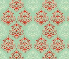 Turquoise & Red Girl Nursery Fabric | Baby girl