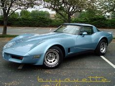 1981 Chevrolet Corvette.....My second Corvette was exactly like this one!!! Same color and year!!