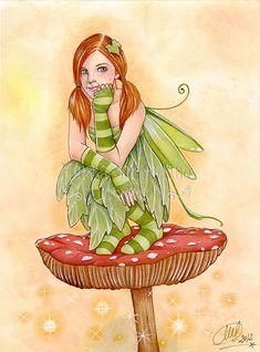 Items similar to Print - Pixie on mushroom II on Etsy Fairy Land, Fairy Tales, Elf Art, Fable, Fairy Pictures, Fairy Coloring, Mushroom Art, Baby Fairy, Beautiful Fairies