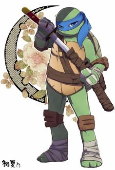 Leo is so cute in this picture Teenage Ninja Turtles, Tmnt Turtles, Gi Joe, Tmnt Leo, Leonardo Tmnt, Evil Villains, Tmnt 2012, Disney, Fan Art