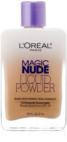 L'Oreal Magic Nude Liquid Powder - sheer to medium coverage, drys to a powder-like more natural looking finish