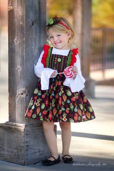 """Girls Black Vintage """"Nutcracker"""" Christmas Dress – Kinder Kouture"""