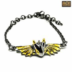 This black knight dragon bracelet is handcrafted from gold and black rhodium plated over brass. Dragon Bracelet, Dragon Ring, Dragon Jewelry, Red Highlights, Black Rhodium, Stud Earrings, Ring Necklace, Jewelry Collection, Knight