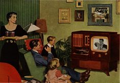 TV: Happiness shared by all the family! Classic Ads, Vintage Posters, Old-Fashioned Advertisements, retro commercials Retro Ads, Vintage Advertisements, Retro Advertising, Retro Humor, Vintage Housewife, Tv Ads, Vintage Tv, Vintage Cards, Vintage Images