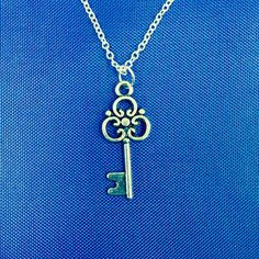 Metal Key Necklace on Etsy, $8.00