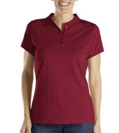 Women's Solid Piqué Polo                       PRICE  $26.99   Item# FS023  Sale Price: $10.80  - Classic fit  - Moisture wicking  - Longer length for comfort and coverage  - Tagless for comfort  - Dickies embossed logo buttons