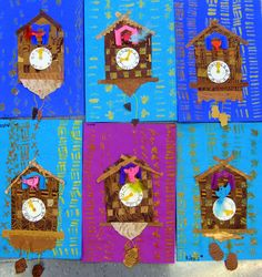 Cassie Stephens: In the Art Room: Cuckoo for Cuckoo Clocks – Kunstunterricht Art Lessons For Kids, Art Lessons Elementary, Art For Kids, Kindergarten Art Projects, School Art Projects, Art School, Diy Projects, Third Grade Art, Second Grade
