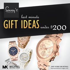 Savoy's gift ideas under $200  Visit store for details > http://www.savoysjewellers.com/contact-us