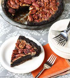 Bourbon Pecan Pie with Chocolate Cookie Crust