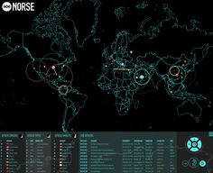 Live cyber attack map