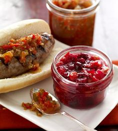 @Midwest Living 25 Favorite Fall Recipes - Hot Dog-Hamburger Secret Sauce and Cranberry-Orange Relish