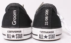 Groom Converse with Wedding Date on the heels!