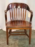 antique courthouse chair - my grandmother has one of these and the wood is so smooth, love it