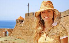Michela presso la fortezza che domina Cidade Velha