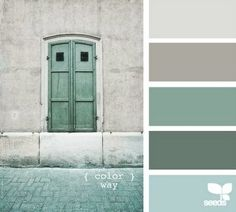 color palette blues and greys - LOVE