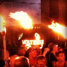 Ohio Flame custom Fire Globe™ for WaterFire Sharon, PA.
