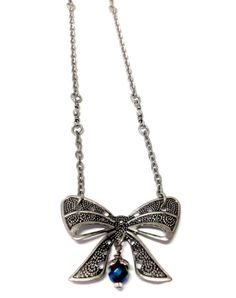 Ravenclaw Bow Necklace by MidnightHouseElves on Etsy