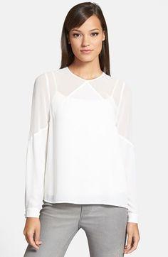 sheer yoke blouse / 1.state