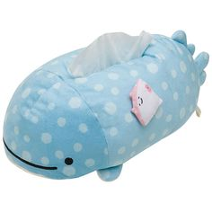 2019 Blue Plush Whale Bedroom Home Office Car Tissue Kleenex Box Cover Holder A+