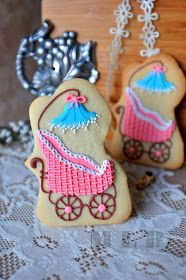 Today I will show you one of my favorite cookie sets that I made couple days ago.    These cookies are for baby shower    and the theme wa...