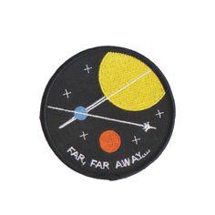 Free Radicals Far, Far Away Galaxy Space Planet Stars Patch