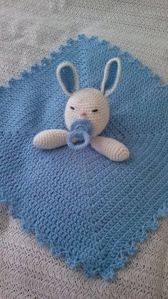 Lovely Baby Rabbit Security Blanket PDF Crochet Tutorial