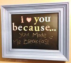 """I Love You Because"" Chalkboard Frame tutorial"