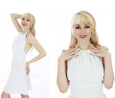 60s Mod Tennis Dress Micro Mini Sixties by neonthreadsdesigns, $48.00