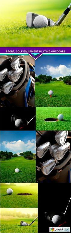 Sport golf equipment playing outdoors 10X JPEG  stock images