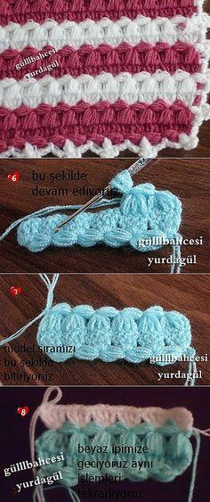 Узор крючком для пледов, салфеток и т.д. ...♥ Deniz ♥