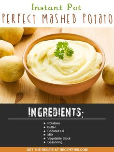 Instant Pot | Instant Pot Perfect Mashed Potatoes recipe from RecipeThis.com