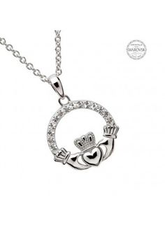 claddagh-pendant-with-white-swarovski-crystals