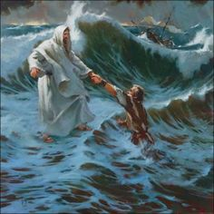 jesus christ on the cross drawings | lord jesus saving the peter from the sea storm drawing art wallpaper