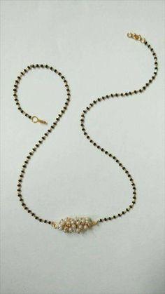 Modern spin #GoldJewelleryMangalsutra #bridaljewellerykerala Gold Mangalsutra Designs, Gold Jewellery Design, Gold Jewelry, Beaded Jewelry, Beaded Necklace, Indian Wedding Jewelry, Indian Jewelry, Bridal Jewelry, Jewelry Patterns