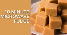 Fancy making some homemade fudge with the kids to pass the time, but can't be bothered with another kitchen nightmare? Microwave Vanilla Fudge Recipe, Vanilla Fudge Recipes, Easy Microwave Fudge, Microwave Recipes, Baking Recipes, Caramel Fudge Recipe Condensed Milk, Quick Fudge Recipe, Crunchie Recipes, Microwave Baking