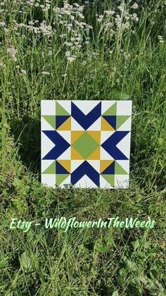 Items similar to mini barn quilt - greenbrier chevron star on Etsy Barn Quilt Designs, Barn Quilt Patterns, Quilting Designs, Block Patterns, Mini Barn, Painted Barn Quilts, Barn Signs, Barn Art, Square Quilt