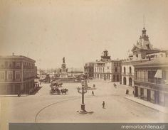 Vista Plaza Prat Santa Lucia, Iglesia San Francisco, Old Pictures, Historical Photos, Paris Skyline, Taj Mahal, Past, Street View, Travel