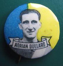 1950 Argus Tin Football Badge: ADRIAN DULLARD (Williamstown)