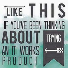 Could you help me out? I'm looking for people to add to my brag book. Use the products for 3 months and give me your honest opinion. That's all! go to Love2wrapwithmandy. Myitworks. Com 1⃣ click PRODUCTS 2⃣ choose a product to look at..... 3⃣ click ADD TO CART 4⃣ make a one time purchase retail OR sign up as a loyal customer to enjoy 40% off every order and earn Perk Points which will earn you FREE products!