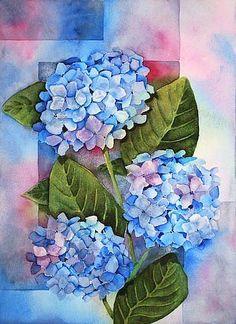Hydrangeas - by Melanie Pruitt from Flower of the Month: Hydrangea art exhibit