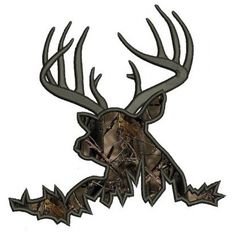 Buck, Moose, Deer Applique machine hunting embroidery digitized Applique design pattern - Instant Download -4x4 , 5x7, and 6x10 hoops