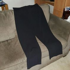 Jaclyn Smith Comfort Fit Black Dress Pants Previously worn and washed  No pockets Zip and button closure Straight leg style 60% polyester, 35% rayon, 5% spandex Size 18 Minor pilling in upper inner thigh area (tried to photograph in last picture)  NO TRADES Jaclyn Smith Pants Straight Leg