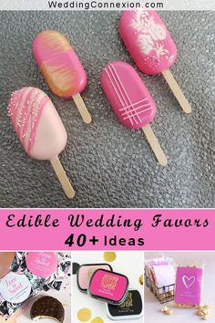 40  Edible Wedding Favors That your Guests Will Love | Visit us for tasty favor ideas at WeddingConnexion.com  #EdibleWeddingFavors #WeddingFavorIdeas #40 EdibleWeddingFavors Summer Wedding Favors, Elegant Wedding Favors, Edible Wedding Favors, Wedding Gifts, Edible Favors, Candy Favors, Cookie Favors, After Dinner Mints, Pure Cocoa Butter