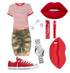 """""""Red ❤️"""" by alexaurie23 on Polyvore featuring Miss Selfridge, Converse, STELLA McCARTNEY, Amanda Rose Collection, Michael Kors and Lime Crime"""